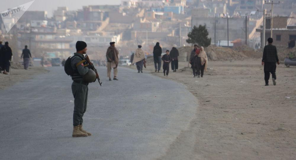 Następstwa wybuchu na obrzeżach Kabulu