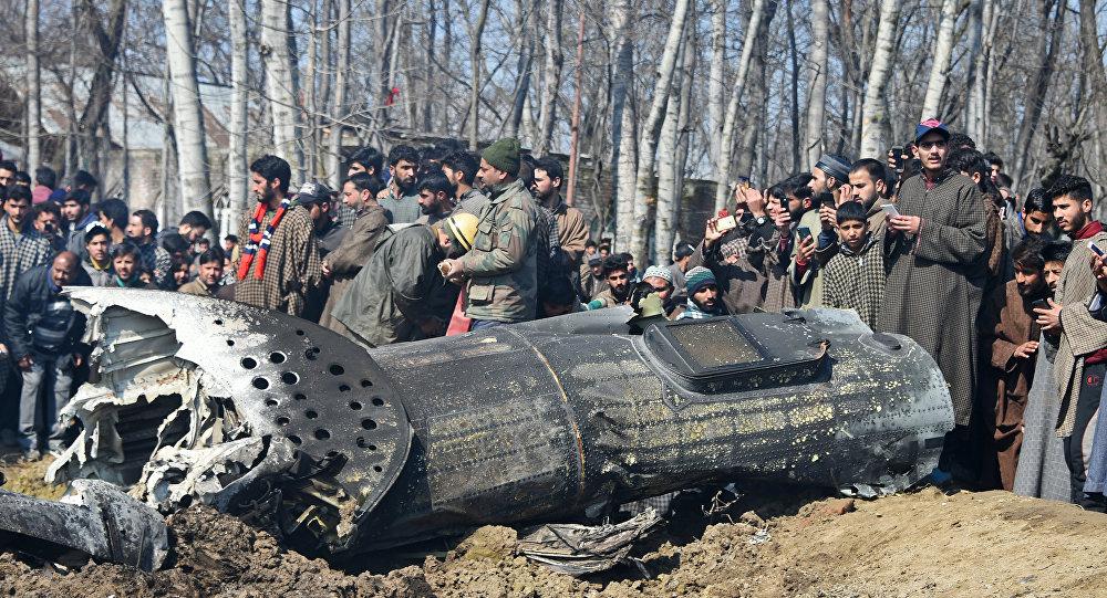 Zestrzelony samolot Sił Powietrznych Indii w Kaszmirze