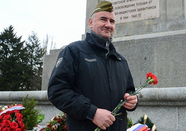 """Prezes stowarzyszenia """"Kursk Jerzy Tyc"""