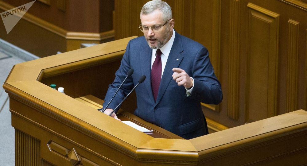 Kandydat na prezydenta Ukrainy Bloku Opozycyjnego - Partii Pokoju i Rozwoju Ołeksandr Wiłkuł